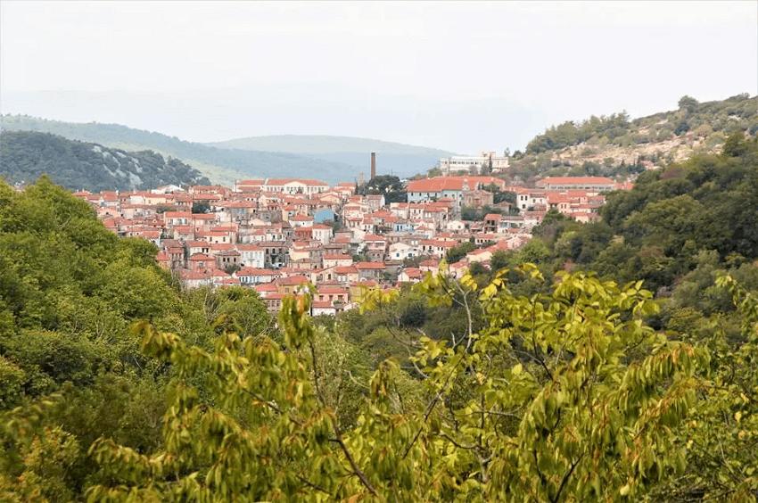 H Αγιάσος, ένα χωριό σε ένα από τα ομορφότερα νησιά της Ελλάδας, τη Λέσβο.