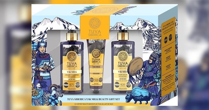 Tuva Siberica Yak Milk Beauty Gift Set (Σαμπουάν για όλους τους τύπους, 300ml + Μαλακτικό για τα μαλλιά για όλους τους τύπους, 300ml + Μαλακτικό Balm Χεριών, 75ml) στο goorganic.gr