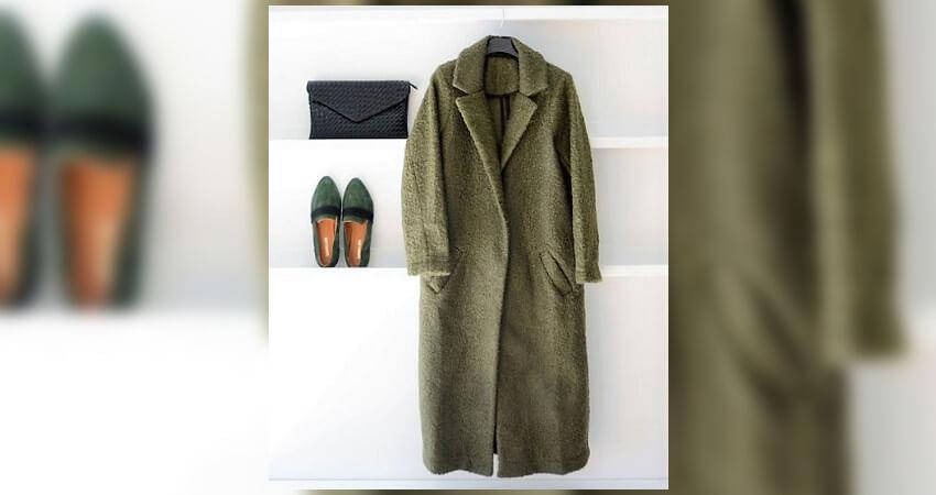 Γυναικεία μοκασίνια Μακρύ παλτό σε λαδί χρώμα evangeliadrosi.com | YouBeHero
